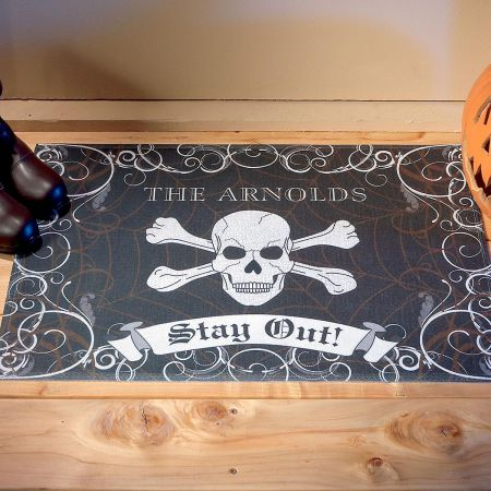 Halloween Personalized Welcome Doormat