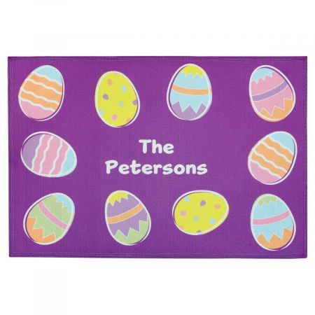 Easter Egg Personalized Welcome Doormat