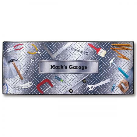 Garage Personalized Double-Width Mat