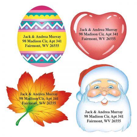 Holidays Year-Round Diecut Address Labels