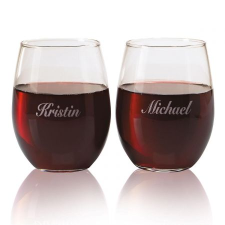 Personalized Wine Glasses by Current Catalog