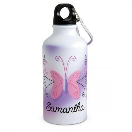 Purple Butterfly Water Bottle