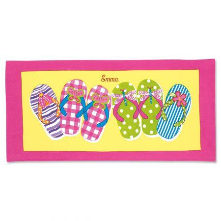 Flip-Flops Personalized Beach Towel