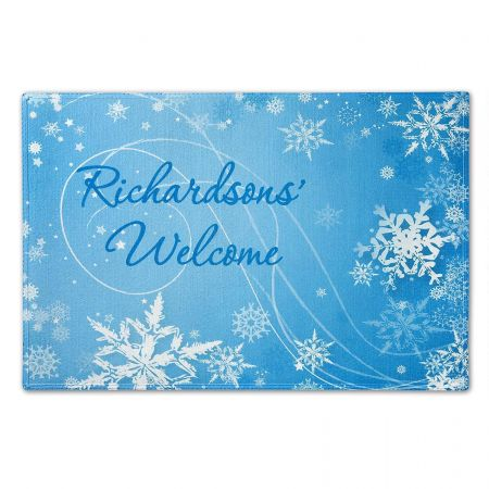 Snowflakes Personalized Welcome Doormat
