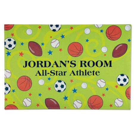 Sports Personalized Welcome Doormat
