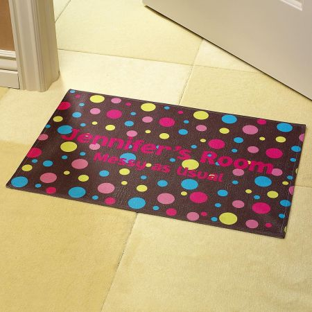 Polka Dots Brown Doormat