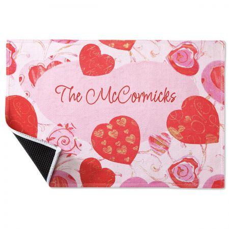 Valentine Swirls Doormat