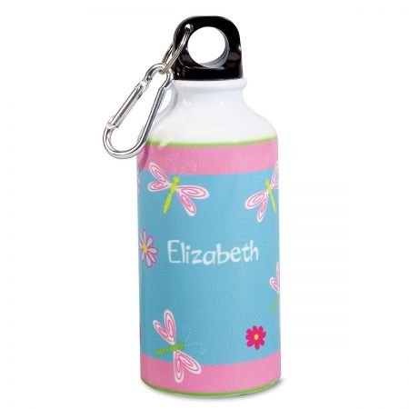 Dragonflies and Flowers  Water Bottle