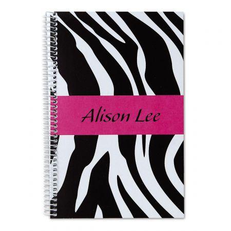 Zebra-Print Notebook