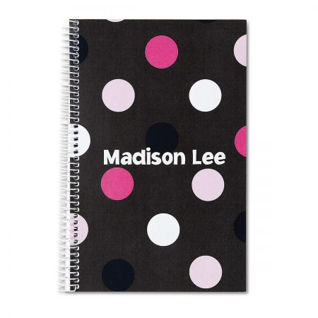 Grey Multi-Dots Notebook