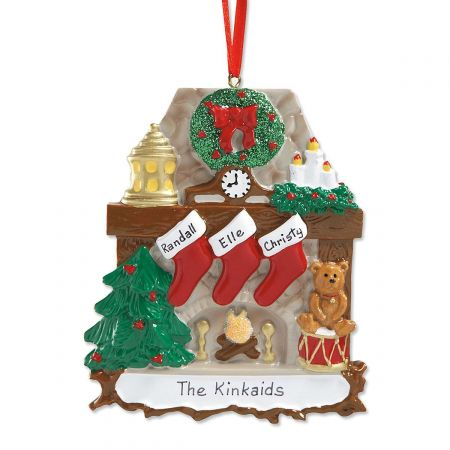 Mantel Stockings & Chimney Hand-Lettered Christmas Ornament