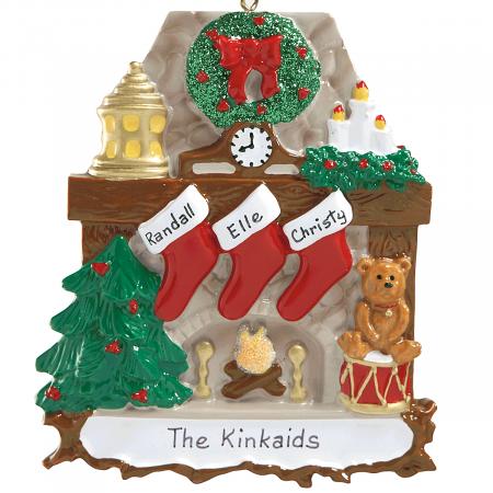 Mantel Stockings & Chimney Ornament Ornaments-3 Names-810...