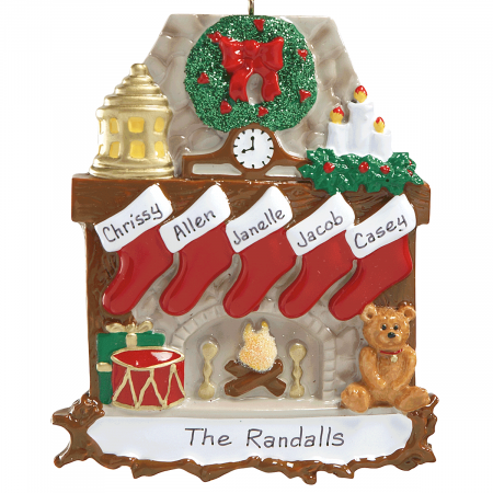 Mantel Stockings & Chimney Ornament Ornaments-5 Names-810...