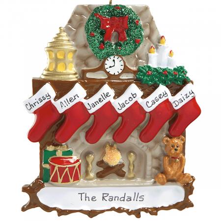 Mantel Stockings & Chimney Ornament Ornaments-6 Names-810...