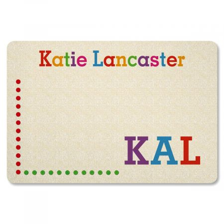 Whimsical Name Personalized Welcome Doormat