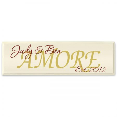 Amore Wooden Plaque
