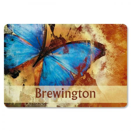 Wings in Abstract Personalized Welcome Doormat