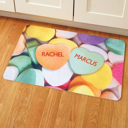 Personalized Candy Hearts Personalized Welcome Doormat
