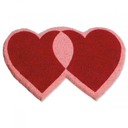 Heart-Shaped Diecut Valentines Doormat