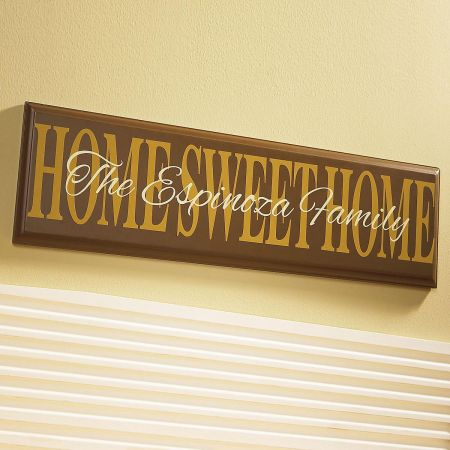 Home Sweet Home Wooden Plaque
