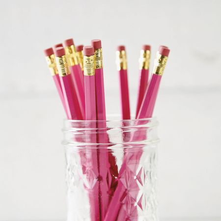 Dark Pink #2 Hardwood Personalized Pencils