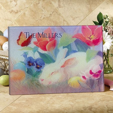 Irresistible Bunny Tempered Glass Cutting Board