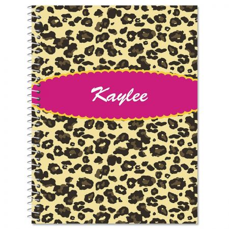 Leopard Spots Large Notebook
