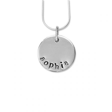 Hand-Stamped Circle Pendants-1 Disc-815350A