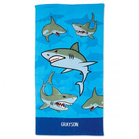 Sharks Personalized Beach Towel