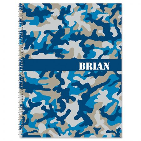 Blue Camo Large Notebook
