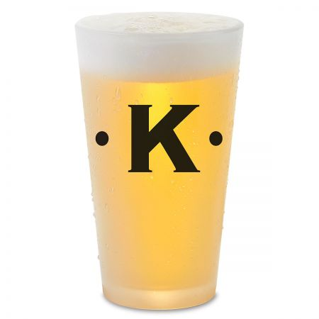 Dot Initials Personalized Pint Beer Glass