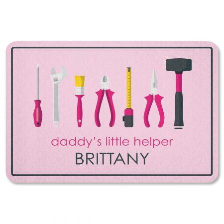 Daddy's Little Girl Helper Personalized Garage Doormat