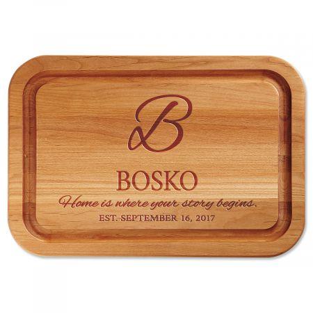 Home is Where Your Story Begins Engraved Wood Cutting Board