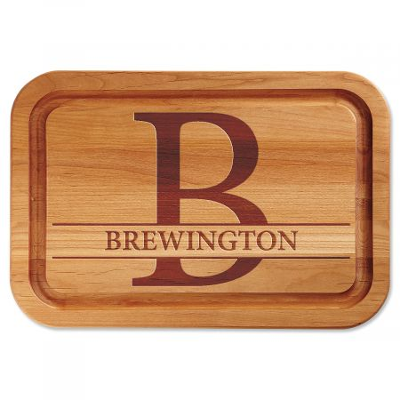 Initial Engraved Wood Cutting Board