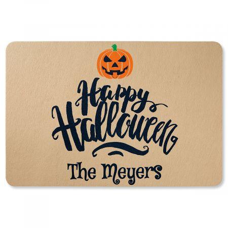 Happy Halloween Personalized Doormat