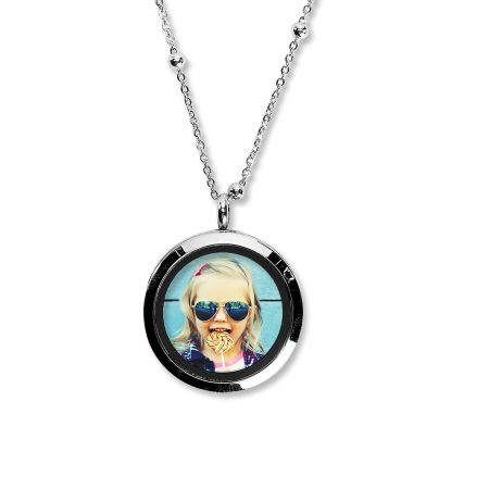 Round Photo Necklace