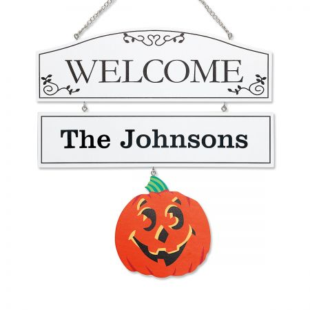 Welcome Personalized Plaque with Seasonal Hangers