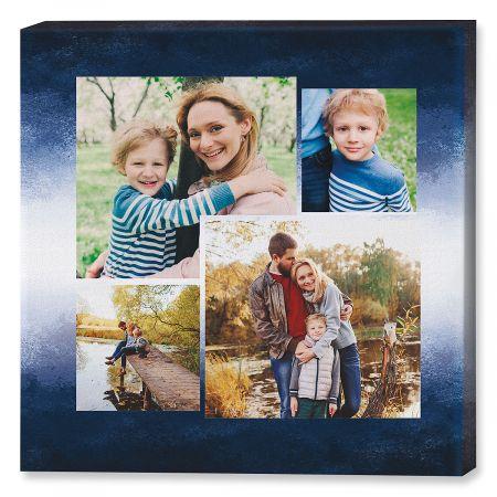 gradiant blue collage photo canvas 12x12 current catalog