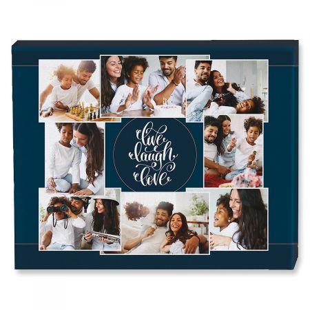 Live Laugh Love Collage Canvas Photo Print