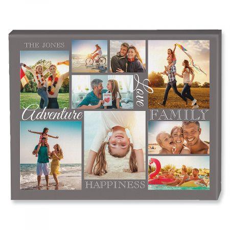 Adventure Collage Canvas Photo Print