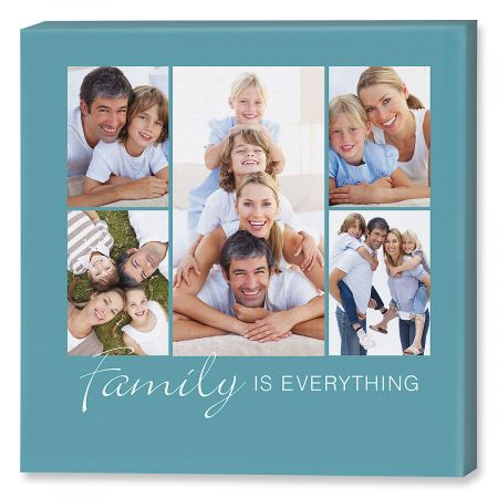Family is Everything Photo Canvas