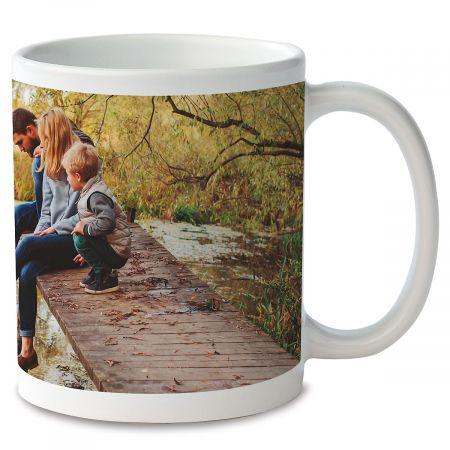 Panoramic Ceramic Photo Mug - White
