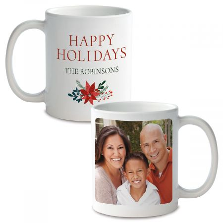 Holly Ceramic Photo Mug