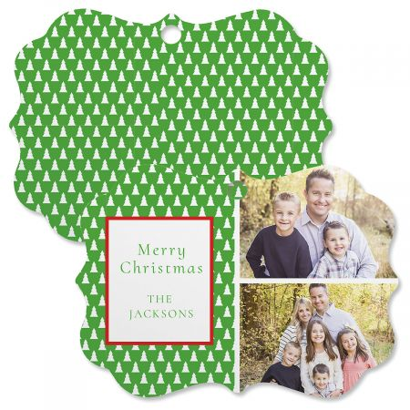 Green Tree Personalized Photo Ornament - Bracket 2