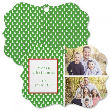 Green Tree Personalized Photo Ornament - Bracket 2