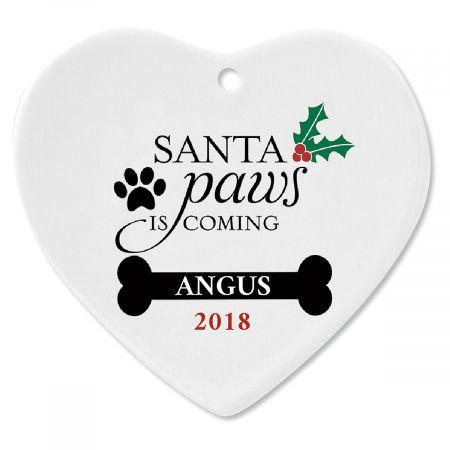 Personalized Santa Paws Christmas Ornament