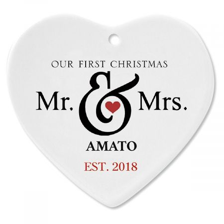 Personalized Mr. and Mrs. First Christmas Ornament