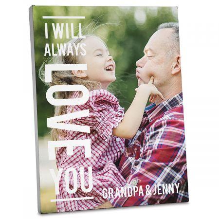 Always Love Personalized Photo Plaque
