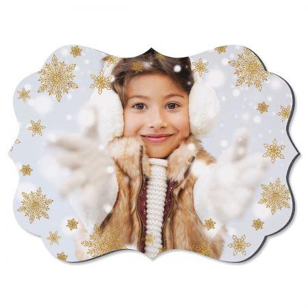 Glitter Snowflake Benelux Personalized Photo Plaque