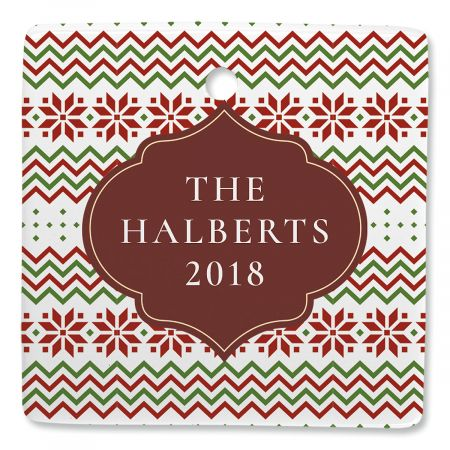 Christmas Sweater Personalized Ornament Square
